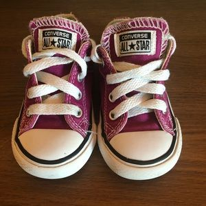 Converse Toddler Deep Pink/Maroon Sneakers